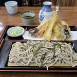 三四郎 - 料理写真:「天ざるそば」(1300円)+「そば大盛り」(200円)