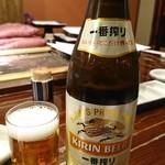 天源・天ぷら専門店 - 瓶ビール