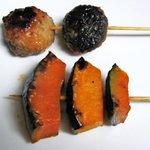 9934179 - かぼちゃ串&椎茸つくね串