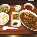 9934981 - 四川風麻婆豆腐セット(1180円)