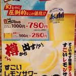 水炊き・焼き鳥 とりいちず - 幻の生ビール!?