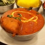 ネパール・インド料理 Happy - 本日の日替わりのチキンとオクラカレー・辛くなくコクと甘味があります♪