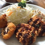 洋食のいろは - サラダと揚げ物2種