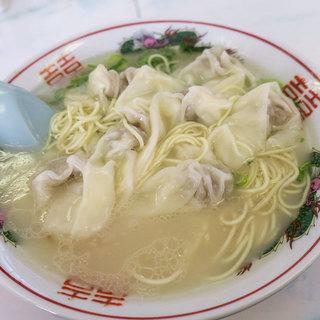 一九ラーメン - 料理写真:「ワンタン麺」(600円)。