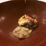 99359385 - 玉ねぎの詰め物 牛ホホ フォアグラ 菊芋