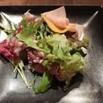 Ristorante Orobianco - イタリア産生ハムと彩り野菜のサラダ