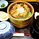 99367793 - 富山県産白エビかき揚げおひつご飯