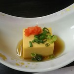 南平台温泉ホテル - 先付 鮟肝豆腐