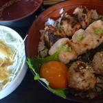ビストロゴキゲン鳥 - 焼き鳥3本丼 税込900円