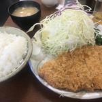 清水屋 - 上ロースカツ定食(1200円)