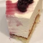 珈琲店トップ - レアチーズケーキの断面