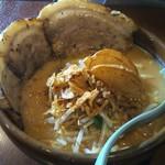 99381143 - 北海道味噌 味噌漬け炙りチャーシュー麺の大盛り(税込1080+108=1188円)