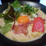 トリイザカヤ 麺 コヤ麺 - らぁ麺カルボナーラ 864円