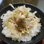 トリイザカヤ 麺 コヤ麺 - 蒸し鶏ごはん