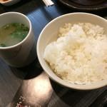 和鶏屋 - H.30.12.13.夜 ごはん小 200円税別・とりスープ 50円税別