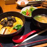 宮崎料理 万作 - よかもよか卵の親子丼御膳 1280円