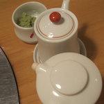 にし - ポン酢、醤油、山葵