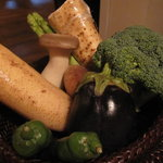 にし - 厳選野菜三種、この中から選びます、、、
