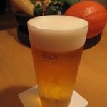 にし - 生ビール 600円 (税別、キリン一番絞り)