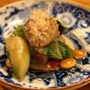 Kotaro - 料理写真:お通し  有機野菜と大豆のおひたし