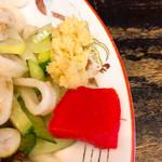白龍 - おろし生姜と紅生姜