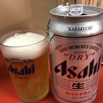 まる八ラーメン - ドリンク写真:ビール400円