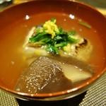 町家懐石 六花 - 料理写真:椀物 ノドグロ、のと115(椎茸)、焼き豆腐