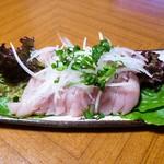 早水鶏肉店 - 料理写真:ささみ(野菜は全部家庭菜園で母の作ったもの)