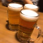蟹しぐれ - 生ビール