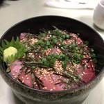 まるいち食堂 - 上中トロ丼1500円