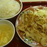 中華食堂 一番館 - 豚肉生姜焼き炒め定食 税込600円