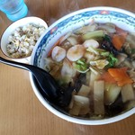 麺や 翔 - 汁なし太麺(800円)です。