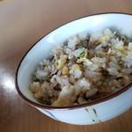 """麺や 翔 - ランチタイムサービスの""""ミニ五目チャーハン(0円)です。"""