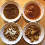 99411953 - マトンカレー、マトン肉団子カレー、キーマカレー、アルゴビ