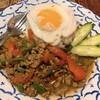 ソムタム - 料理写真:ガパオムー・カイダォ(ガパオライス)