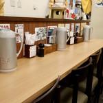 海鮮処 魚屋の台所 - カウンター席