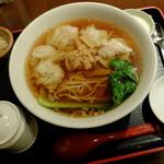 """香港ダイニング 九龍 - """"海老ワンタン麺"""""""