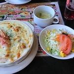 宝島 - 料理写真:シーフードドリアセット1,368円