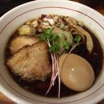 つけ麺 井手 - 北浜ブラック+味玉