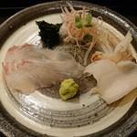 99420416 - ヒラメとつぶ貝と青海苔