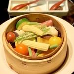 99421993 - 蒸したてお野菜 白味噌チーズ&ヒマラヤ岩塩(1,500円)