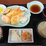 ドライブインみちしお - 天ぷら定食¥1150-