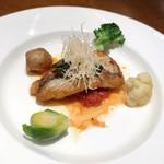 ル・ソレイユ・ルヴァン - 魚料理 / 白甘鯛のソテー ブールノワゼットソース トマトバジルと温野菜添え
