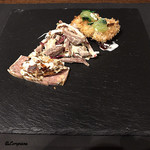 リストランテ ブォーノ - くもこのフリット、鴨のコンフィサラダ、パテ・ド・カンパーニャ