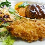 レストラン 幹 - ハンバーグと海老クリームコロッケ