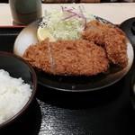 松のや - ロース&ヒレ2枚定食¥880