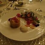 アマンダンライズ - 冷前菜  オマール海老と寒鰤のクリスマスリーフサラダ