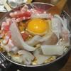 お好み焼き んまい屋 - 料理写真:ぶた+いか玉 大盛り(1140円+税)