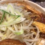 ラーメン 宮郎 - マシコールでこの量のニンニクと野菜は正直ガッカリ