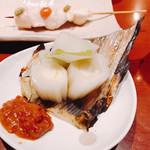 鶏繁 - 下仁田ねぎ炭火焼?甘くて美味しかった!